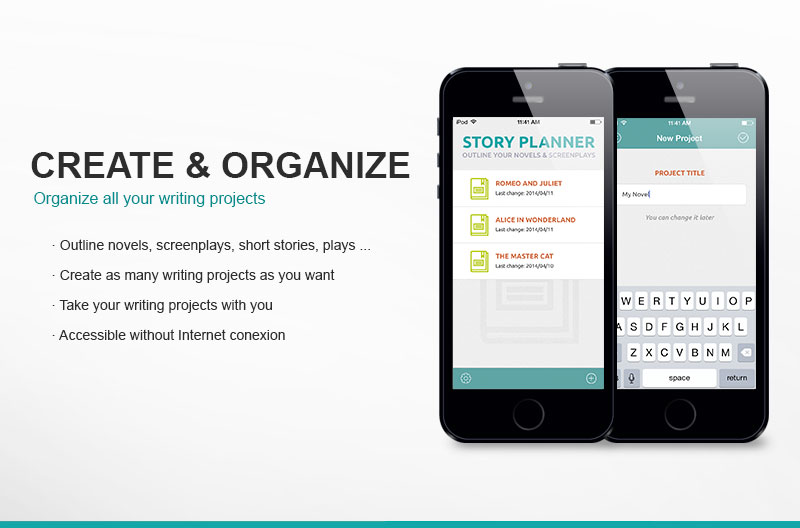 Story planner for writers app to outline your novel for Plan book app