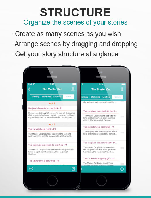Organize the scenes of your stories